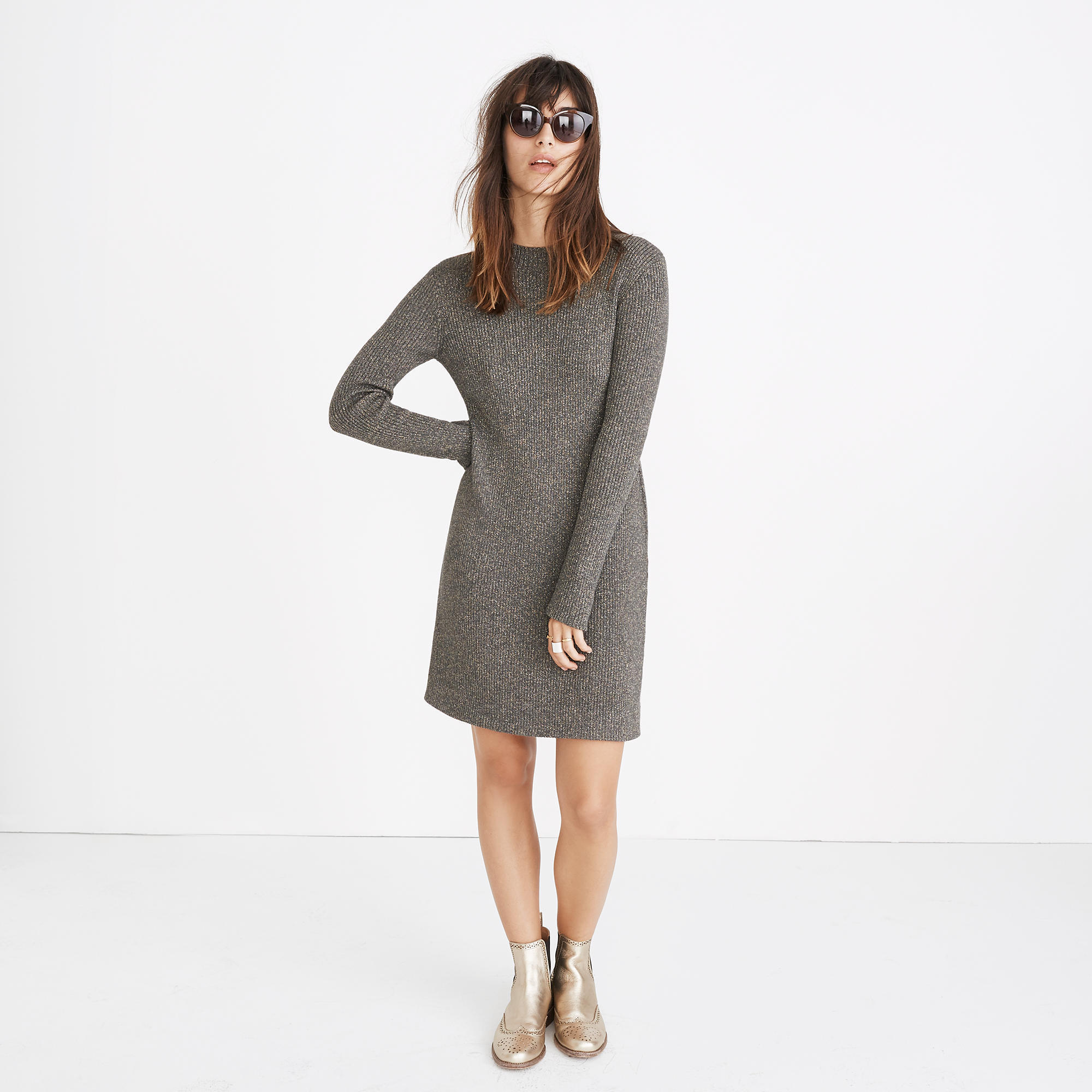 ★USA限定★ Madewell/ 新作♪ night sparkle mockneck dress