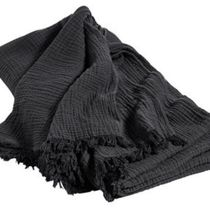 【HAY】ラグジュアリー☆HAY Crinkle throw Charcoal grey(大 )