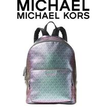 ★送・関込み★ Michael Kors Wythe Metallic Large Backpack
