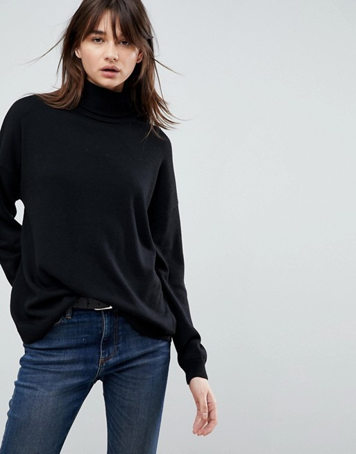 Oversized Jumper with Slouchy Neck