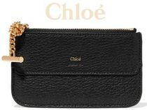 ★関税負担★CHLOE★DREW TEXTURED-LEATHER CARDHOLDER