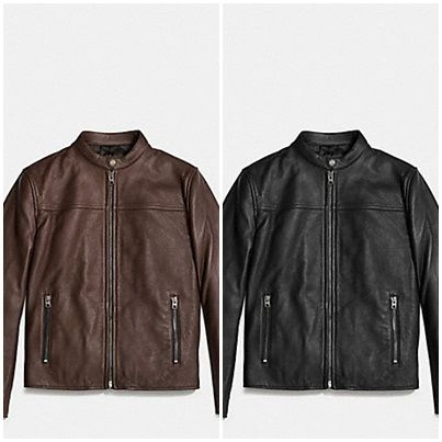 Coach(コーチ) LEATHER RACER JACKET
