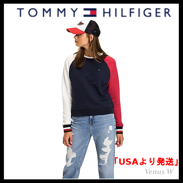 Tommy Hilfiger★カラーブロック★ロゴ★パーカー★スウェット