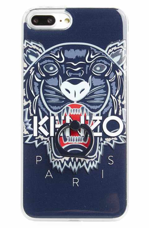 KENZO/3D Tiger Ring iPhone 7 Plus Case★リング付き★NAVY