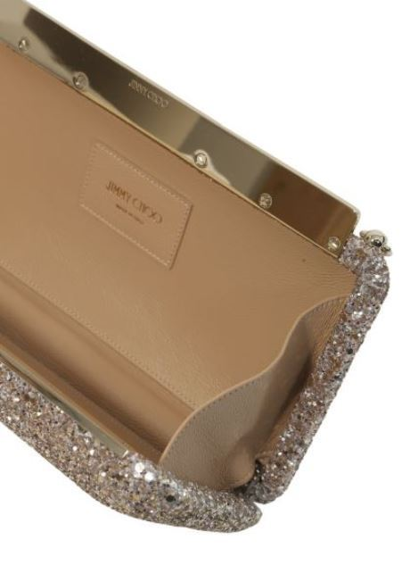 【Jimmy Choo】ELLIPSE GLITTER CLUTCH