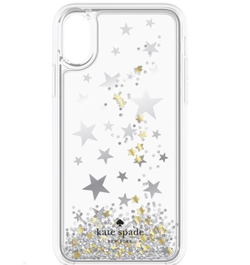 【ケイトスペード】Liquid Glitter iphoneX case