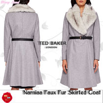 関税送料込★TEDBAKER★Narniaa Faux Fur Skirted Coat