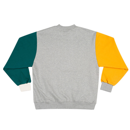 ★MOTIVESTREET★ COLOR BLOCK SWEATSHIRT(GRAY)