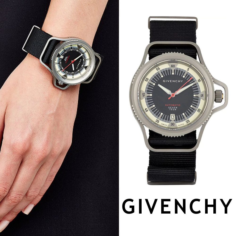 関税送料込☆GIVENCHY☆Seventeen Watch 45mm