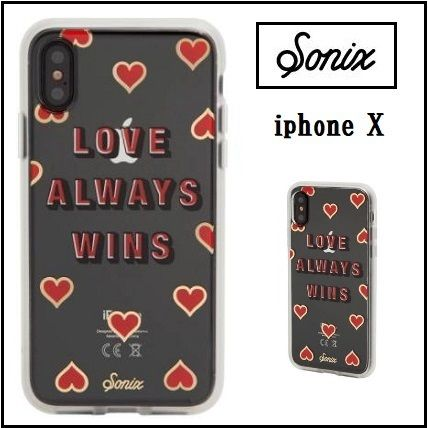 送料込 Sonix Love Always Wins iPhone X ハート柄 ケース★