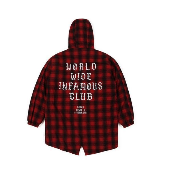 STIGMAのWORLD OVERSIZED WOOL CHECK VELBOA COAT 全2色