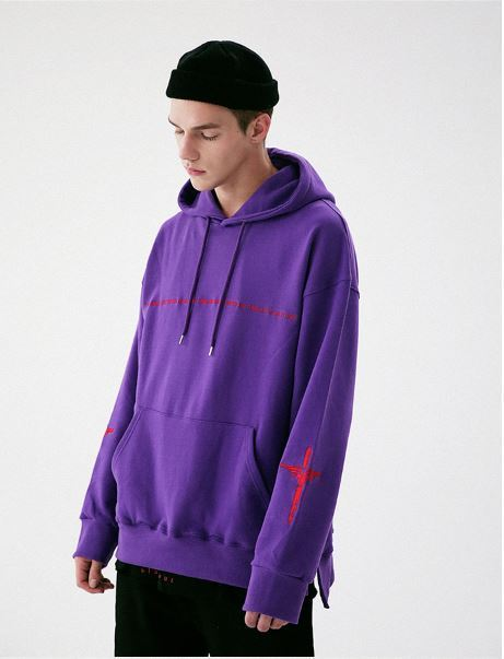 日本未入荷MASSNOUNのSECURITY SIDEVENT HOODIE 全4色