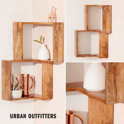 ☆Urban Outfitters *木製*コーナーウォールシェルフ☆送関込
