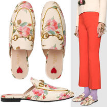 VIP☆関税込【GUCCI】Princetown Rose Print Leather Slipper