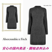 Abercrombie & Fitch グレー長袖ニットワンピース♪