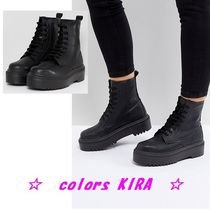 ASOS ATTITUDE Chunky Lace Up Boots♪