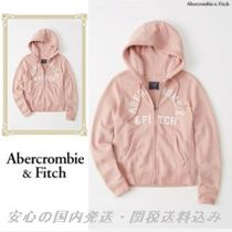 Abercrombie & Fitch ピンク ロゴ ジップパーカー♪
