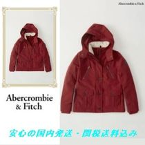 Abercrombie & Fitch レッド ポケット付き ジャケット♪