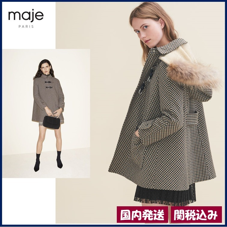 【maje】Prince of Wales!上品なグレンチェックコート