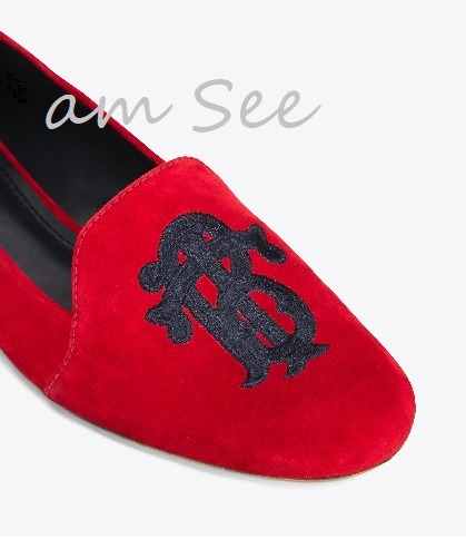 SALE【2017-18AW】TORY BURCH ANTONIA ローファー  red / navy