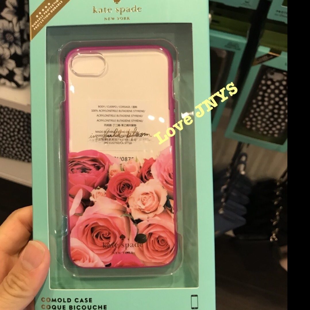 3-5日着可☆kate spade☆iPhone 8 case☆in full bloom☆薔薇