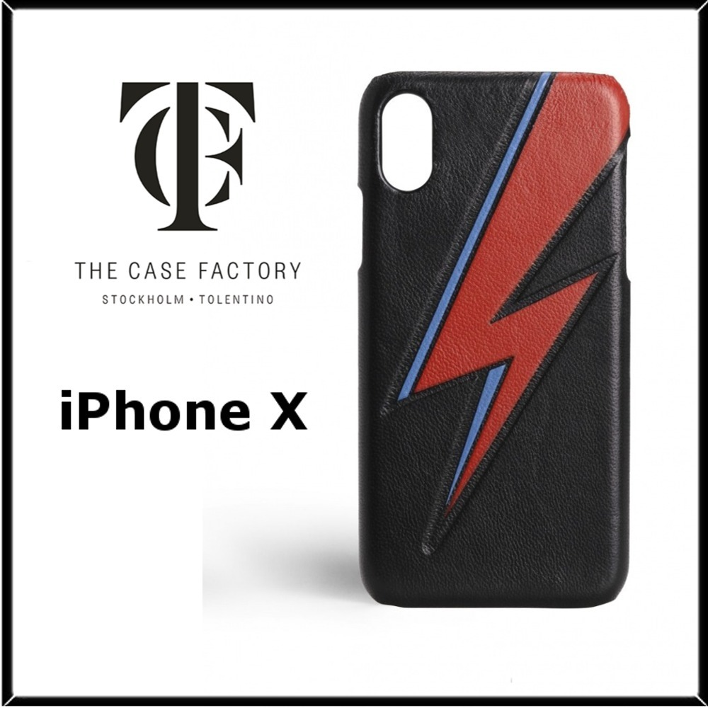 THE CASE FACTORY iPhone X ケース BOWIE LIGHTNING BLACK 黒