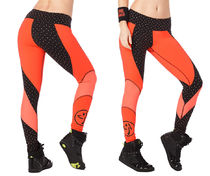新作♪ZumbaズンバZumba Hero Ankle Leggings-Coral Craze