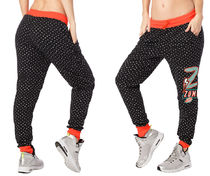 新作♪Zumbaズンバ Woman Jogger Pants-Bold Black
