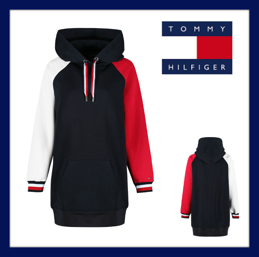 ★Tommy Hilfiger★フラッグカラーロングフーディー★送料込★