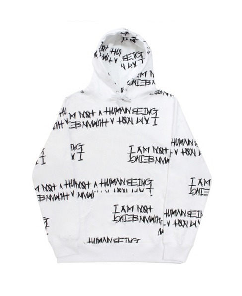 New★【I AM NOT A HUMAN BEING】Basic Logo Pattern Hoodie 2色