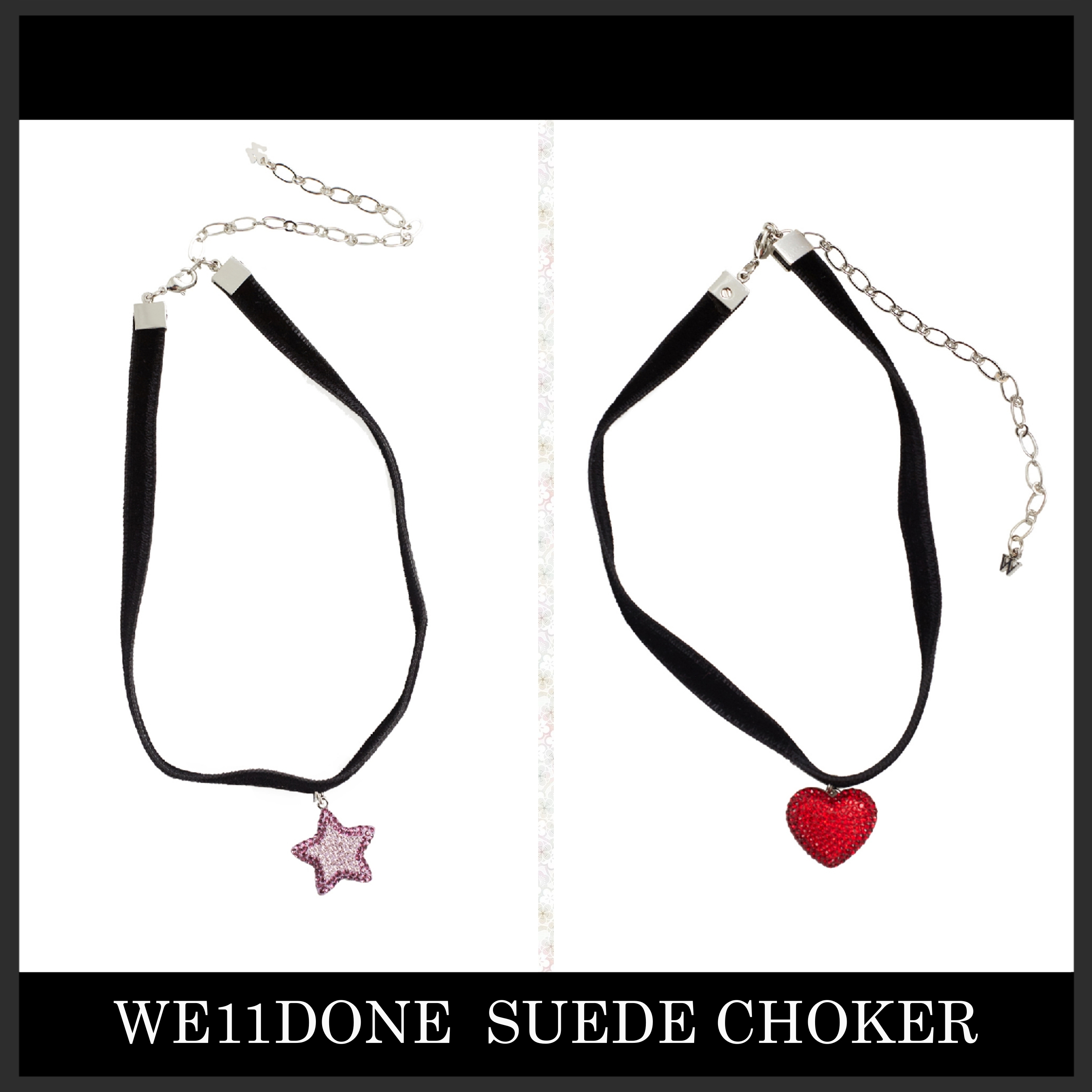 GD着用で人気上昇ブランド We11Done suede choker チョーカー