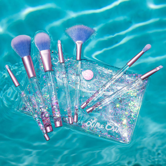 aquarium brushes (pink/iridescent)