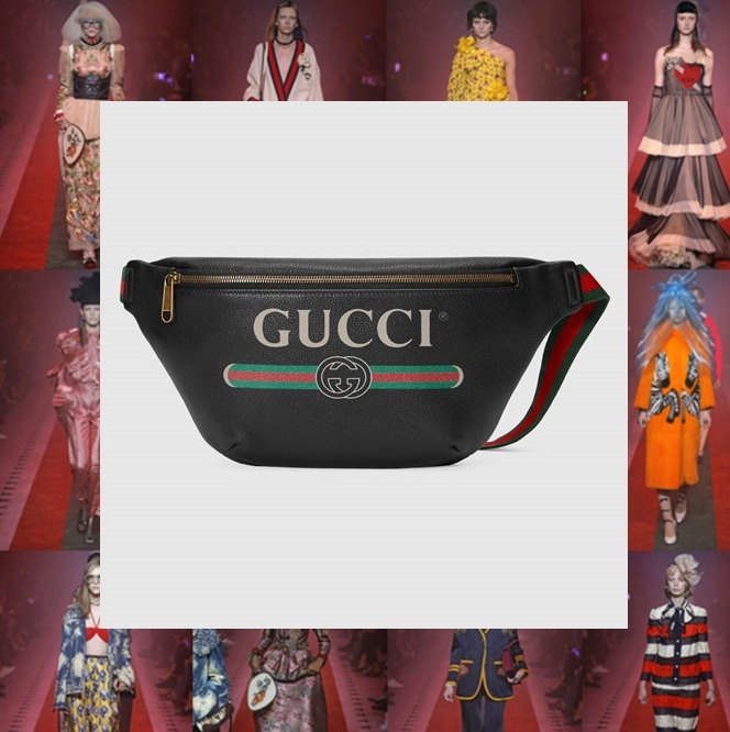 【数量限定】GUCCI Print leather belt bag
