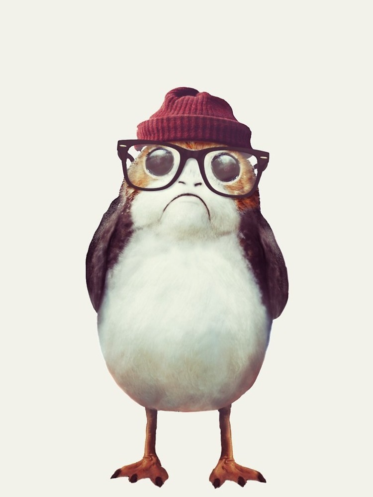 ★RED BUBBLE★ Hipster Porg iPhoneケース 関税込・送料無料