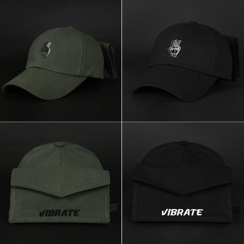 【VIBRATE】GLASSES SNAP POCKET ボールキャップ(2color)-UNISEX