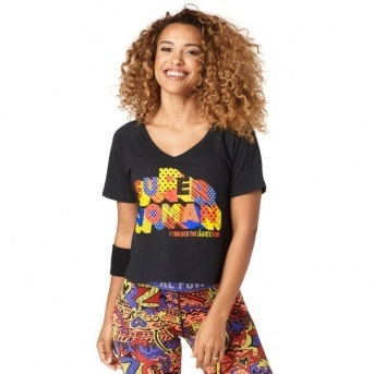 ★国内発送★ ズンバ Zumba Super Woman Tee Bold Black