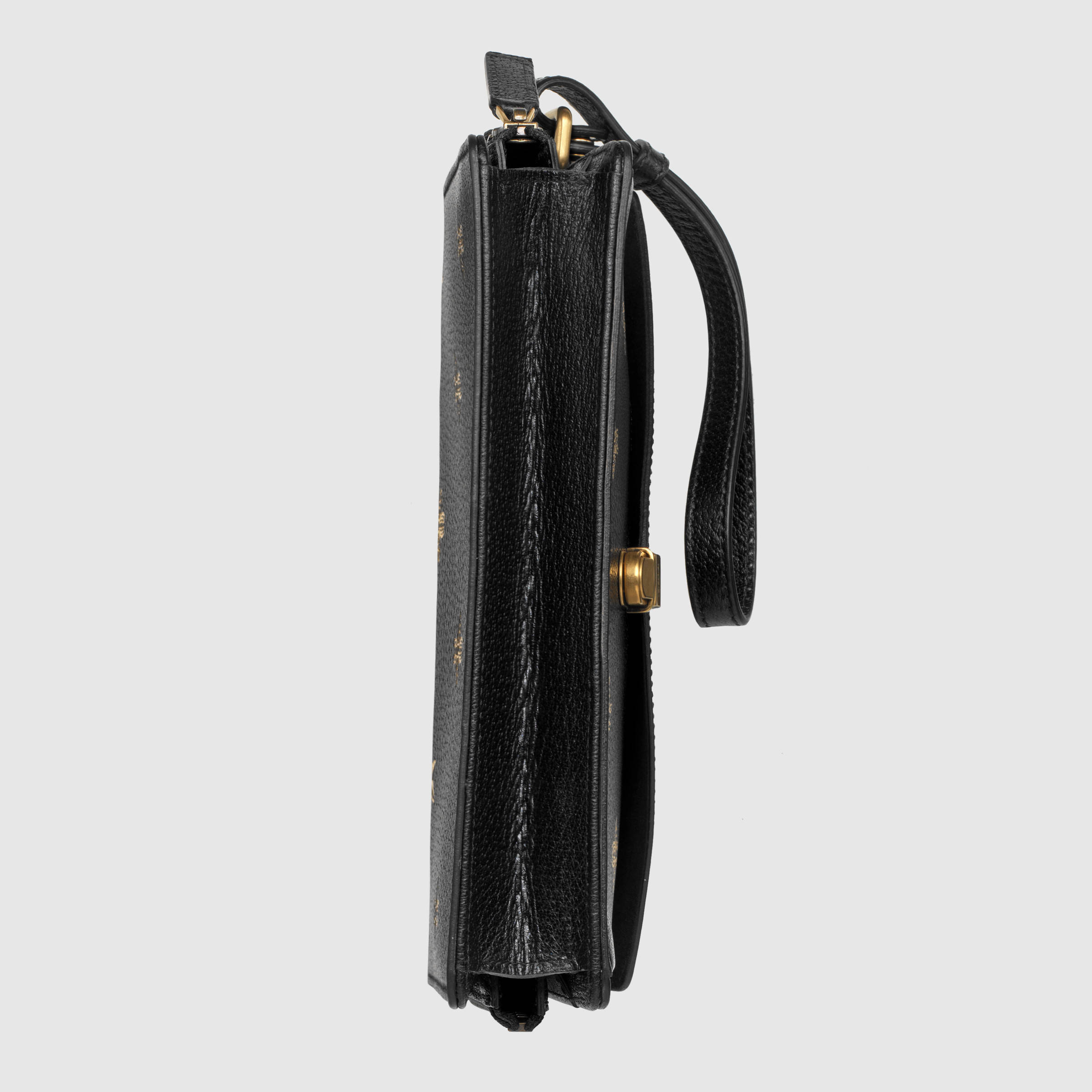 【数量限定】GUCCI Bee Star leather men's bag Black
