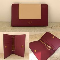★NEW★【CELINE】Frame コイン&カードケース  (Ruby & Nude)