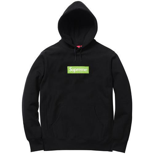 17AW Supreme Box Logo Hooded Sweatshirt Black パーカー