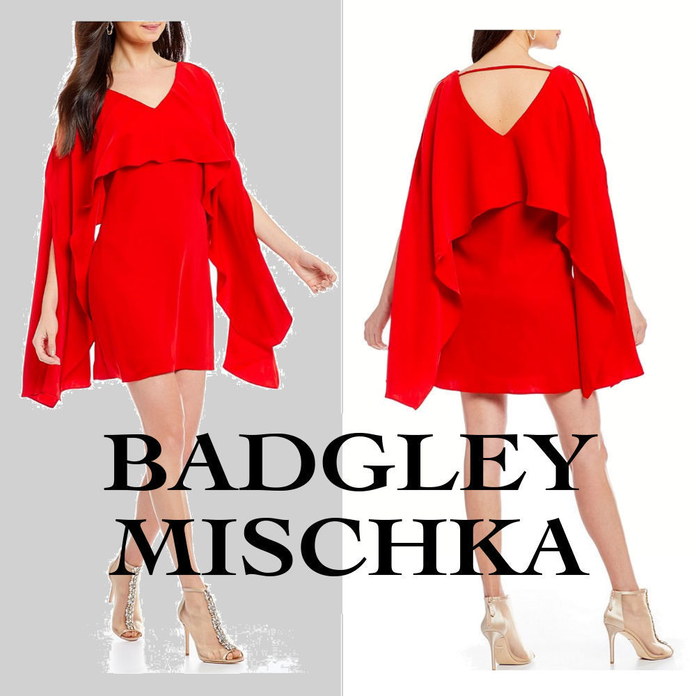 ◇Badgley Mischka◇Weasy Ruffle Cocktail Dress