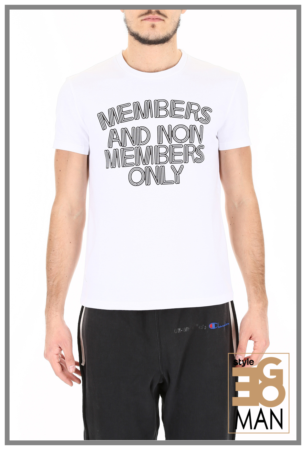 STELLA MCCARTNEY MEMBERS AND NON MEMBERS ONLY T-シャツ