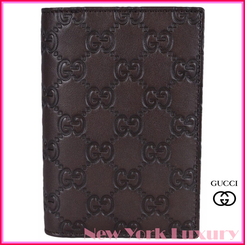 GUCCI★グッチ★素敵!Brown Leather Guccissima Passport Case