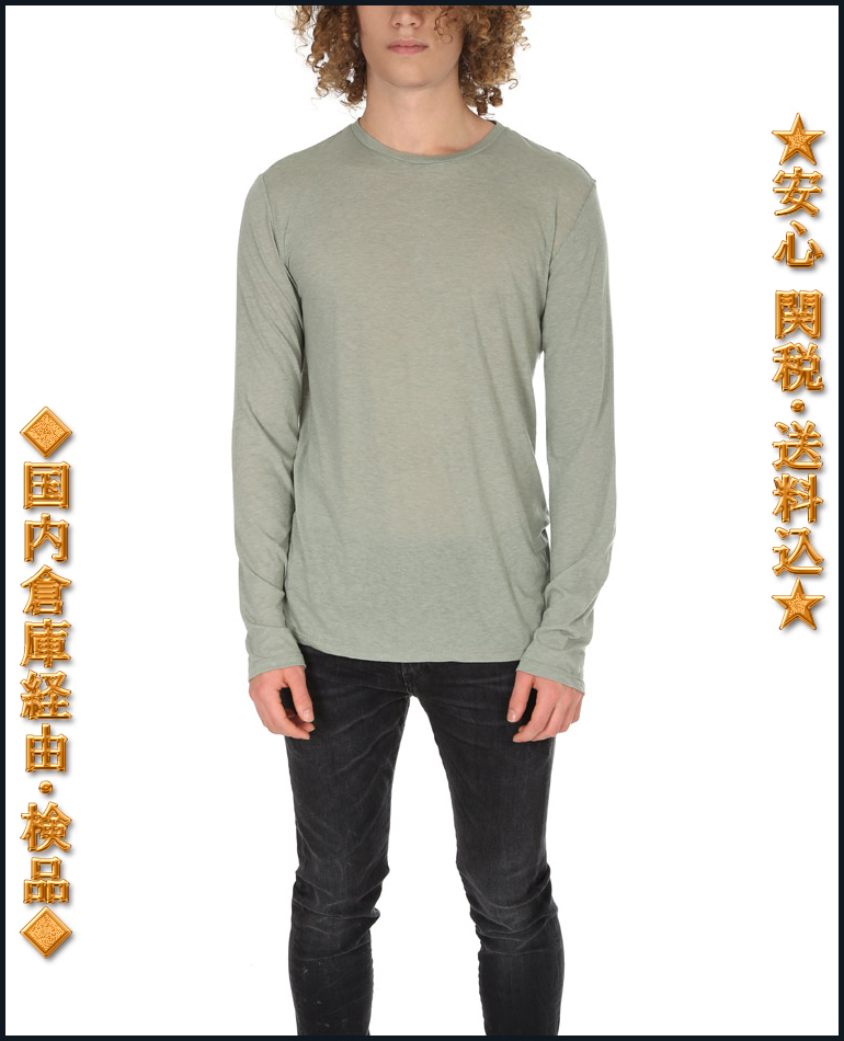 "セール""BLUE&CREAM""LS TEE SHIRT Tシャツ Military Green 関税込"