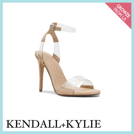 Kendall + Kylie サンダル・ミュール 【Kendall + Kylie】クリアアンクルストラップヒール☆