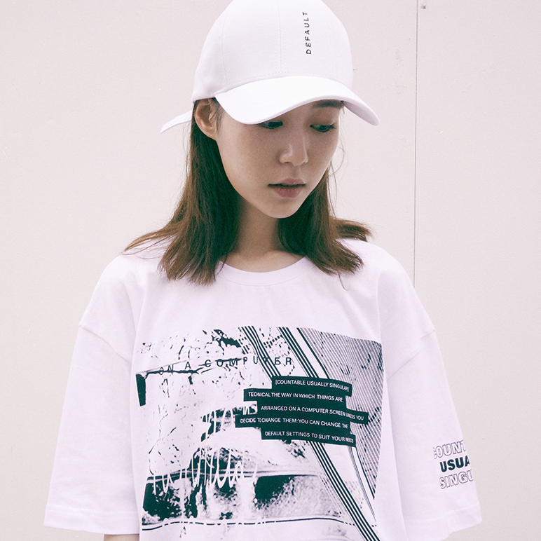 【default】EMBROIDERY 7PANEL キャップ (2 color) - EXO着用