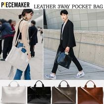 【PIECEMAKER】男女共用★LEATHER 3WAY POCKET BAG★4色
