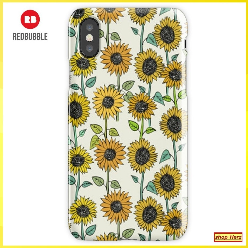 ★RED BUBBLE★ Sunflowers iPhoneケース 関税込・送料無料