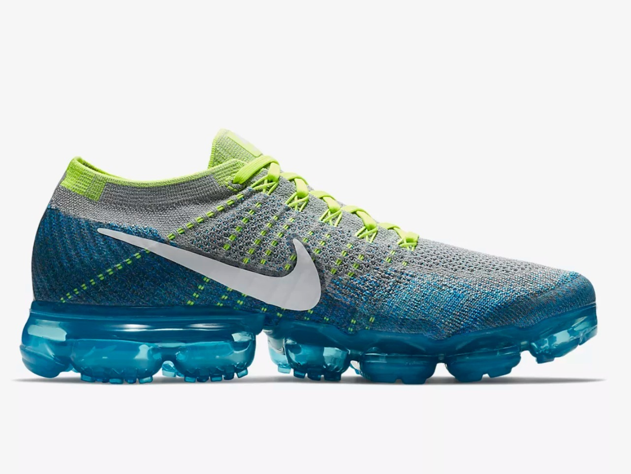 NIKE AIR VAPORMAX FLYKNIT WolfGreyBlue Men's Running Shoe