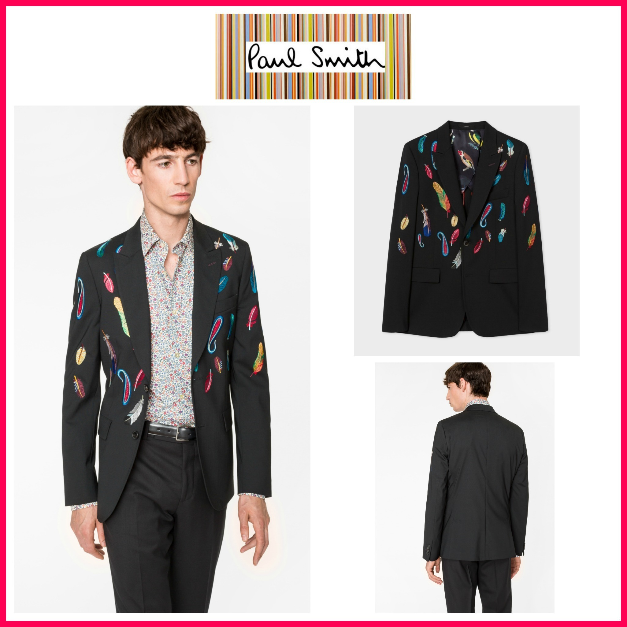 ☆日本未入荷☆新作Paul Smith☆ 'Feather' Stretch-Wool Blazer