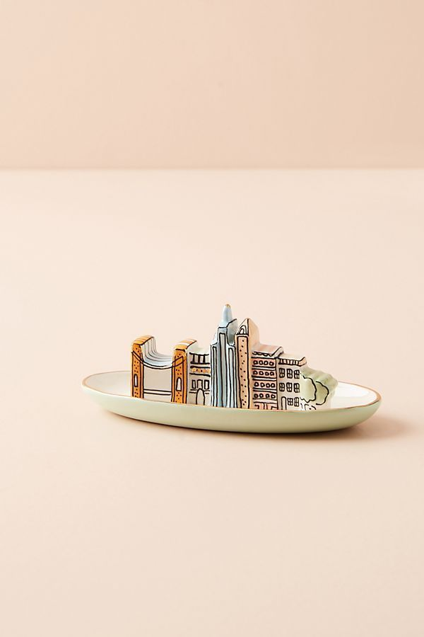 ANTHROPOLOGIE☆City Trinket Dish☆ 税送込
